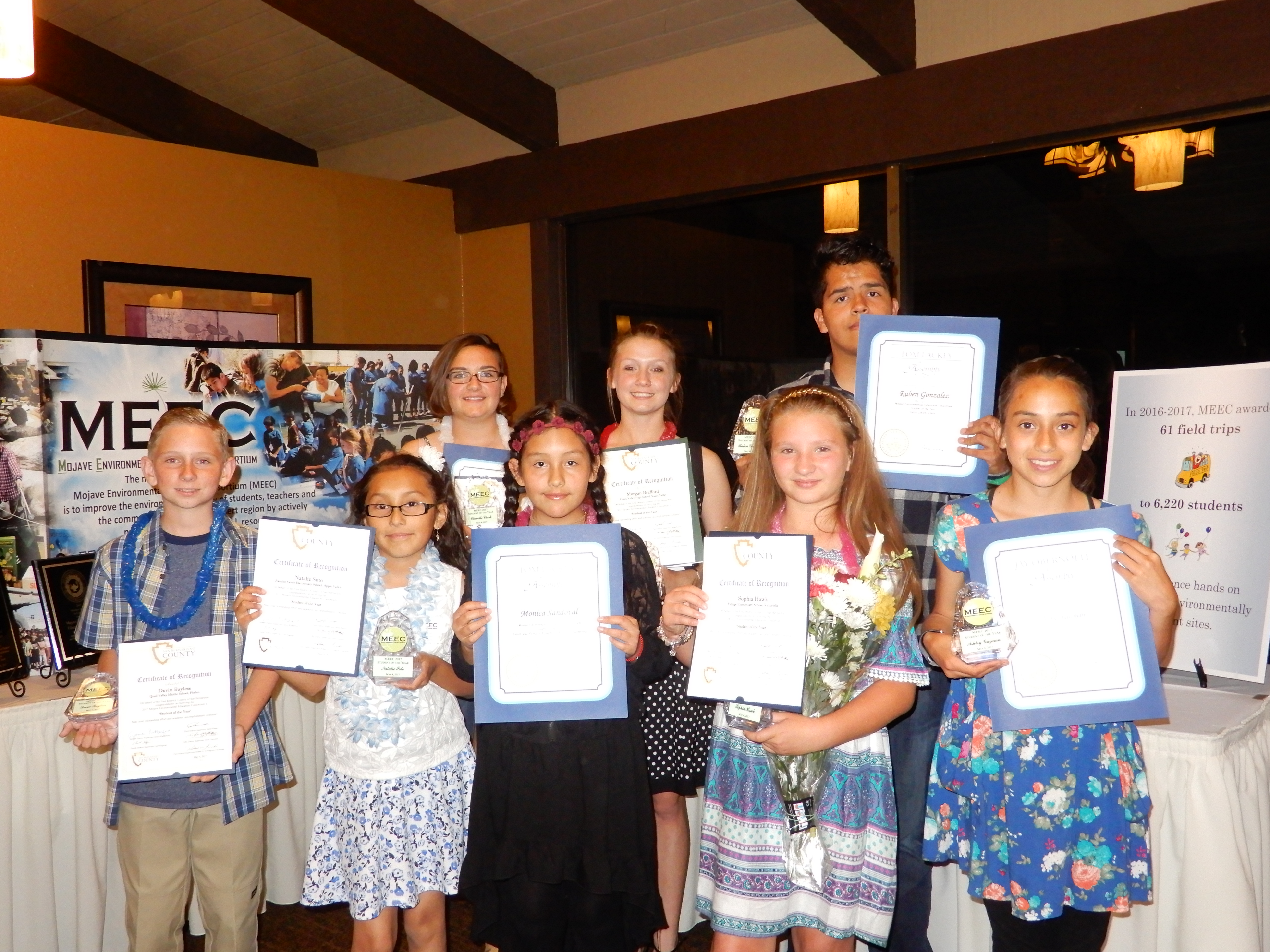MEEC Awards High Desert Students and Teachers with its Highest Honor